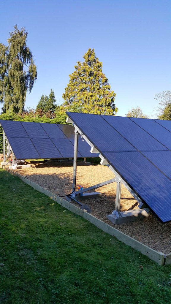 Solar Panels on the external of a house