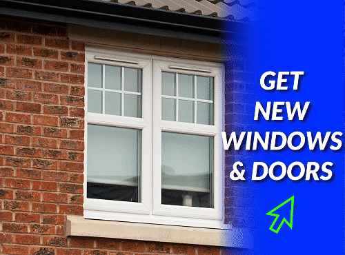 UPVC window installation in Corsback