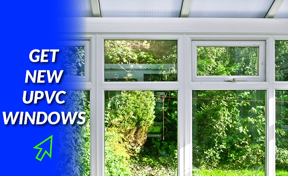 UPVC window installation in Abney