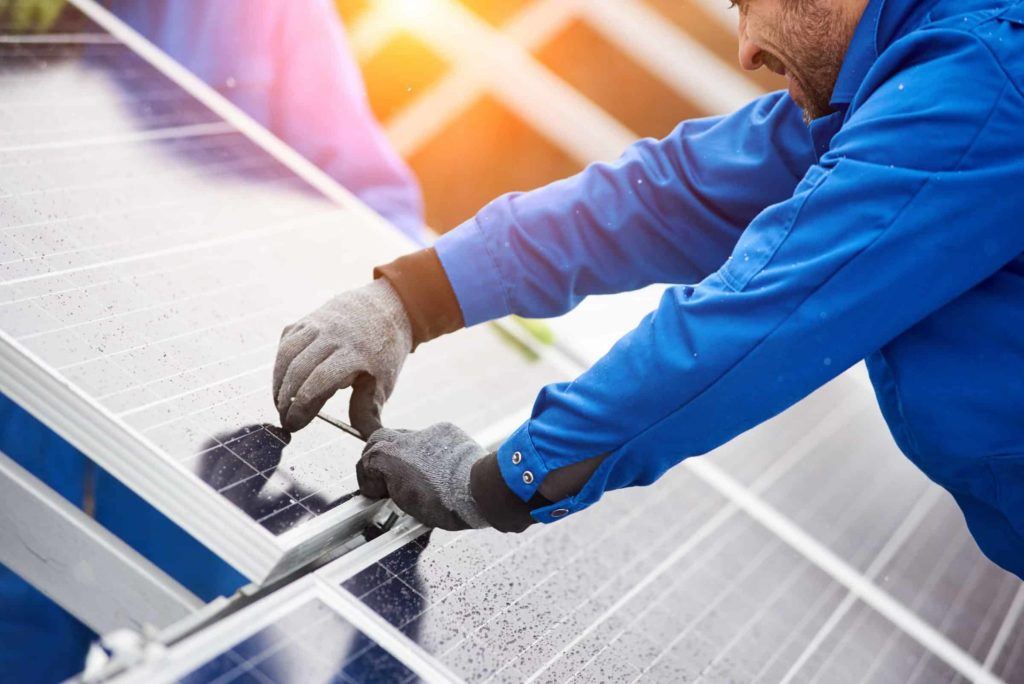 Installation of commercial solar PV Panels