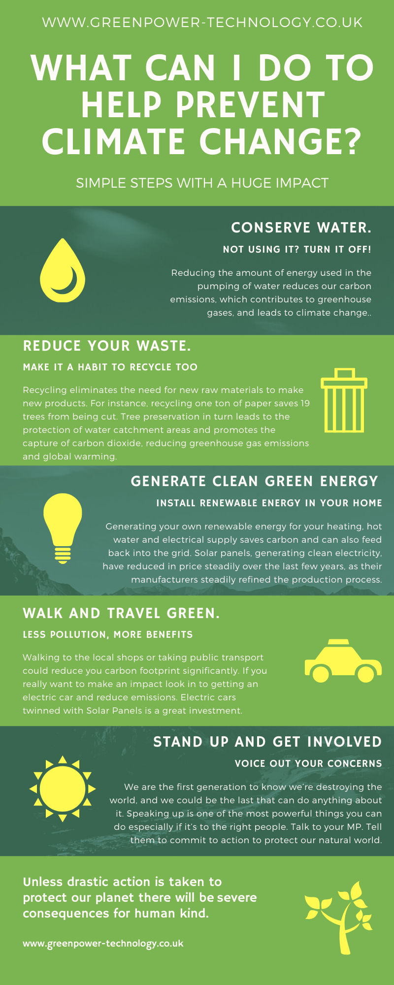 What can i do to help prevent climate change infographic