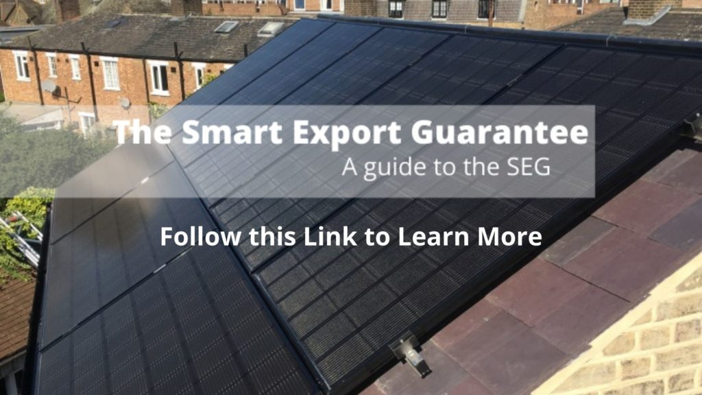 the smart export guarantee combined with free solar panels